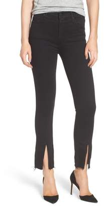 Mother The Insider High Waist Slit Ankle Bootcut Jeans
