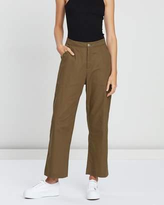 Atmos & Here Linen Blend Crop Pants