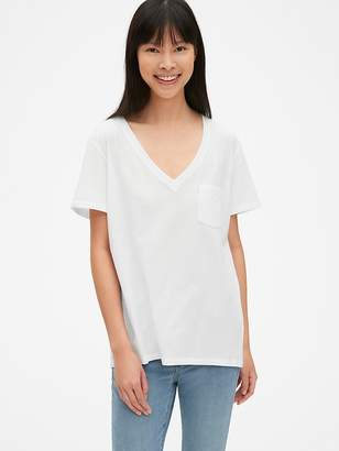 Gap Vintage Wash Relaxed Short Sleeve V-Neck T-Shirt