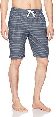 Kanu Surf Men's Line up Stripe Quick Dry Beach Board Shorts Swim Trunk