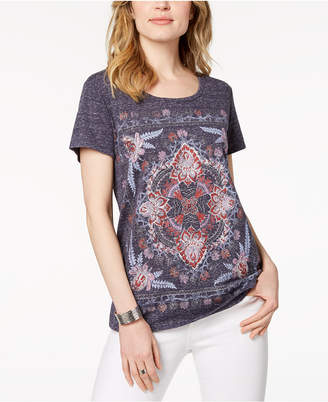 Style&Co. Style & Co Glitter Graphic T-Shirt, Created for Macy's