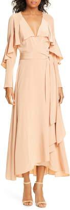 Diane von Furstenberg Isla Silk Midi Wrap Dress