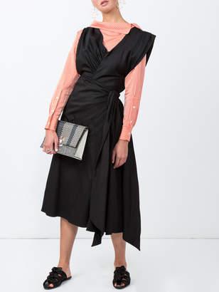 Tome V-neck bow dress