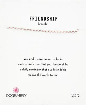 Dogeared Womens SS Pink Friendship Bracelet