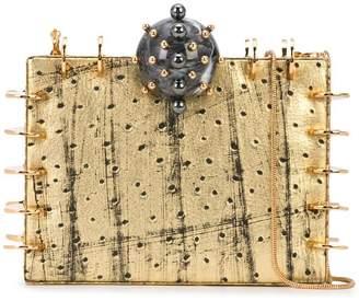 Tonya Hawkes embellished box clutch