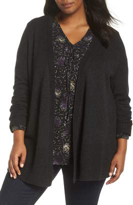 Sejour Wool & Cashmere Open Front Cardigan