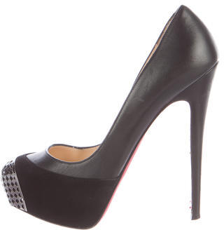 Christian Louboutin  Christian Louboutin Leather Embellished Pumps