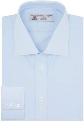 Turnbull & Asser Poplin Micro-Check Print Shirt