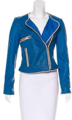 Elizabeth and James Leather Moto Jacket