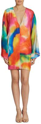 Ralph Lauren Women's Nadia Splash-Print Silk Dress