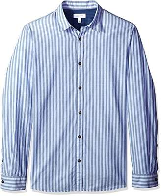 Calvin Klein Men's Long Sleeve Woven Button Down Shirt