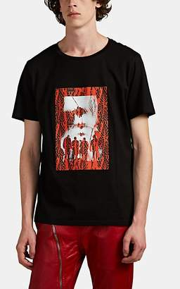 Neil Barrett Men's Band-Print Cotton-Blend T-Shirt - Black