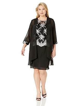 ee2d26462ff19 Le Bos Women s Duster Embroidered Jacket Dress
