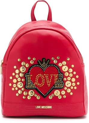 Love Moschino heart logo backpack