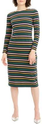 J.Crew J. Crew Stripe Long Sleeve Cotton Dress (Regular & Petite)