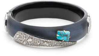 Alexis Bittar Crystal Encrusted Fancy Shield Hinge Bracelet