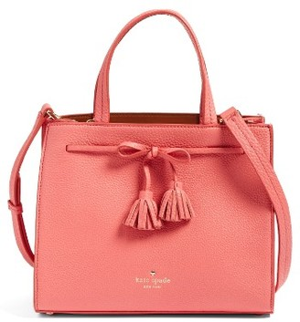 Kate Spade New York Hayes Street Isobel Leather Satchel - Red $398 thestylecure.com
