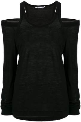 Alexander Wang cold shoulder knitted top