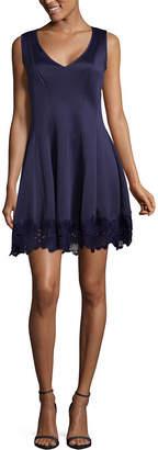 Jump Apparel Sleeveless Applique Fit & Flare Dress-Juniors