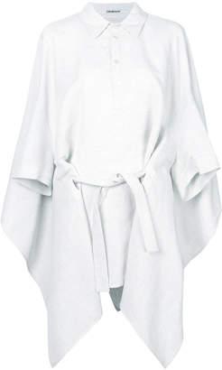 Chalayan draped waist-tied shirt