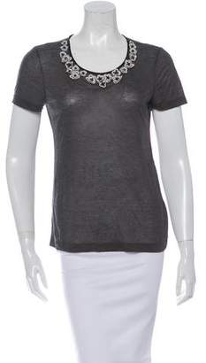 Jason Wu Appliqué Short Sleeve T-Shirt