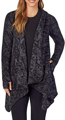 Cuddl Duds Fleecewear-with-Stretch Long-Sleeve Hooded Wrap-Up Cardigan