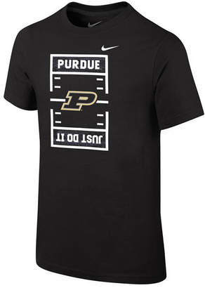 Nike Purdue Boilermakers Just Do It Football T-Shirt, Big Boys (8-20)