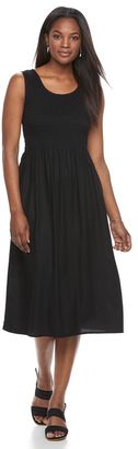 Women's Croft & Barrow® Smocked Challis Dress $44 thestylecure.com