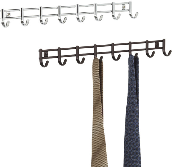 Container Store Axis 8-Hook Wall-Mounted Rack