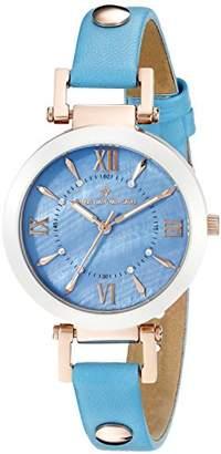 MOP Christian Van Sant Women's CV8165 Analog Display Swiss Quartz Blue Watch