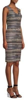 St. John Gilded Eyelash Engineered Bodycon Dress