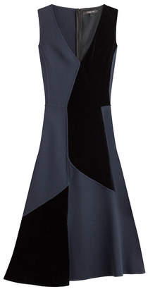 Derek Lam Patchwork Wool Dress