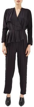 Women's Topshop Boutique Peplum Silk Jumpsuit $160 thestylecure.com