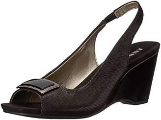 Anne Klein Women's Waverlie Fabric Wedge Sandal