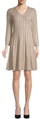 Eliza J Cable-Knit Shift Dress
