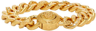 Versace Gold Crystal Chain Medusa Bracelet