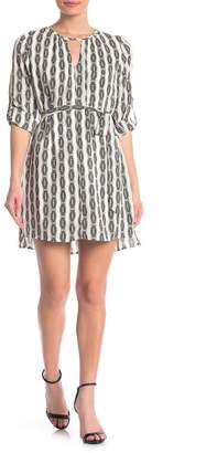 Collective Concepts Patterned Keyhole Shift Dress
