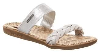 BearPaw Ash Braided Slide Sandal
