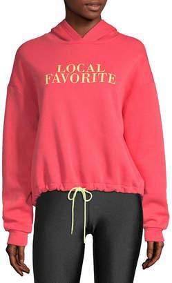 Flirtitude Womens Long Sleeve Knit Hoodie-Juniors