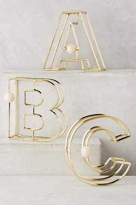 Anthropologie Illusion Monogram Letter