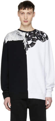 Marcelo Burlon County of Milan Black and White Snake Wing Sweatshirt