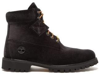 Off-White Off White X Timberland Velour Boots - Mens - Black