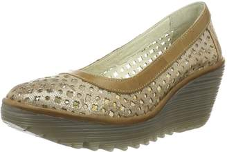 Fly London Womens Yika733Fly Luna Camel Leather Shoes 37 EU