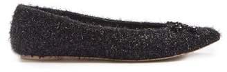 Simone Rocha Bead Embellished Metallic Lurex Flats - Womens - Black