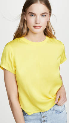Nation Ltd. Marie Sateen Boxy Cropped Tee