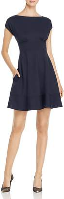 Kate Spade Fiorella Ponte Cap-Sleeve Dress