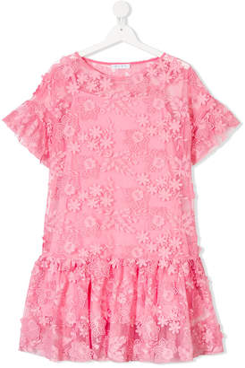 Elsy TEEN floral embroidered dress