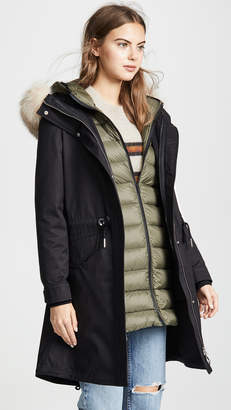 Soia & Kyo Lois Utility Down Coat with Fur Trim