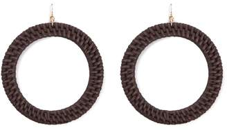 Forever 21 Wicker Drop Hoop Earrings