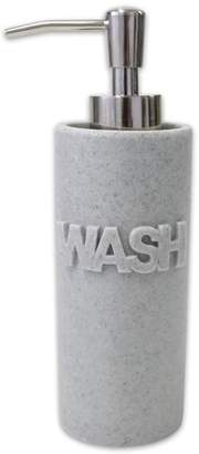 Splash Home Wash Bath Accessory Collection Resin Lotion/Soap Dispenser - Gray